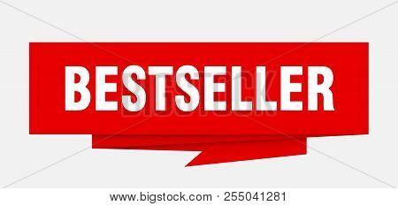 Bestseller Sign. Bestseller Paper Origami Speech Bubble. Bestseller Tag. Bestseller Banner