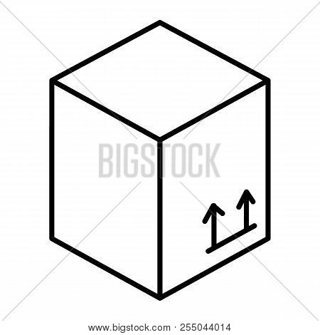 Carton Box Thin Line Icon. Package Box Vector Illustration Isolated On White. Cardboard Box Outline