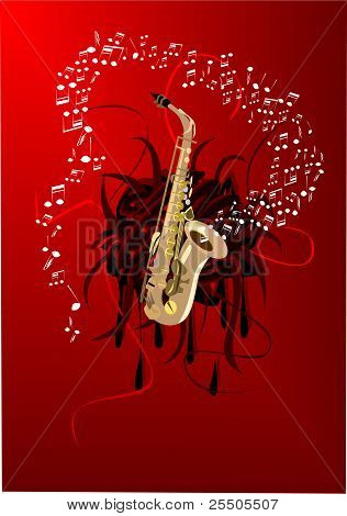 Abstract saxophone