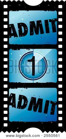 2X1 Admit One Movie Ticket