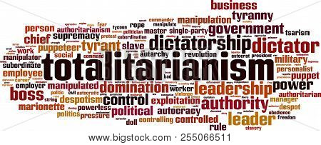 Totalitarianism Word Cloud Concept. Vector Illustration On White