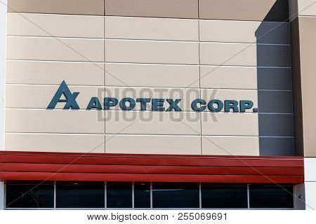 Plainfield - Circa August 2018: Apotex Corporation Us Location. Apotex Is A Canadian Generic Drug Ma