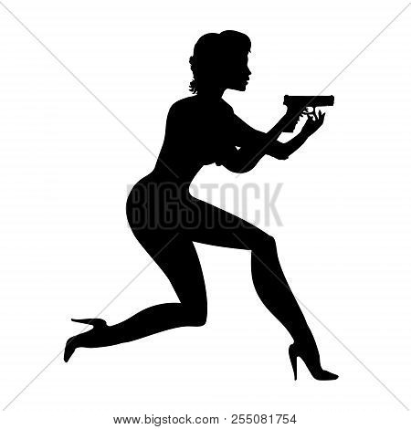 lady decided running vector photo free trial bigstock