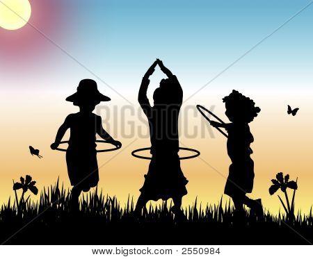Hula Hoops At Sunset 2