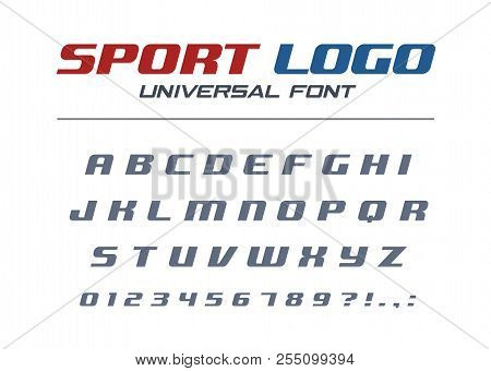 Sport Logo Universal Italic Font. Fast And Strong Futuristic, Athletic, Dynamic Alphabet. Letters, N