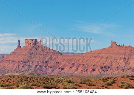 A Scenic Landscape In The Utah Desert Near Moab Utah
