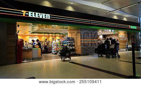 Los Angeles, Ca/usa - Oct 11, 2017: 7-eleven Store At Lax International Airport, Tom Bradley Interna