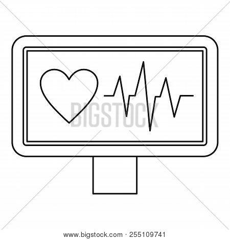 Ecg Monitor Icon. Outline Illustration Of Ecg Monitor Icon For Web