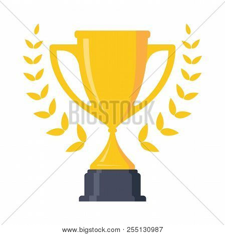 Best Simple Icon Trophy Cup Design Element. Flat Icon Vector Trophy. Vector Illustration Eps.8 Eps.1