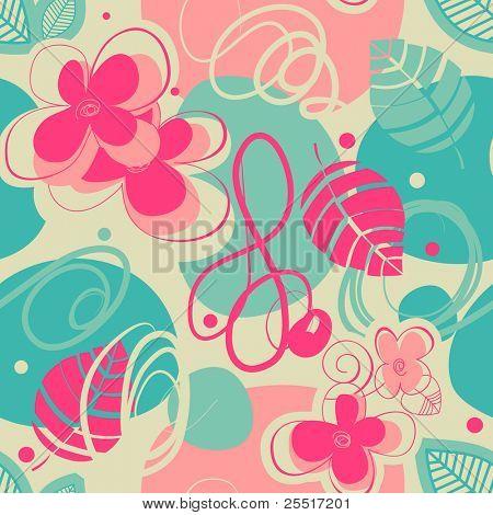 Retro stylish seamless pattern
