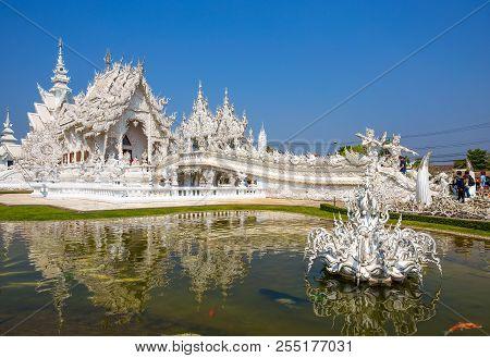 Chiang Rai, Thailand, February 20, 2017 - Wat Rong Khun, The White Temple, Chiang Rai, Thailand