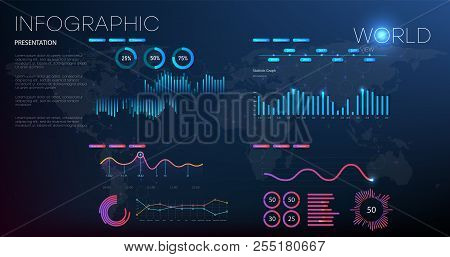 Data Analysis, Research, Audit, Planning, Statistics, Management Vector Concept. Global Statistics O