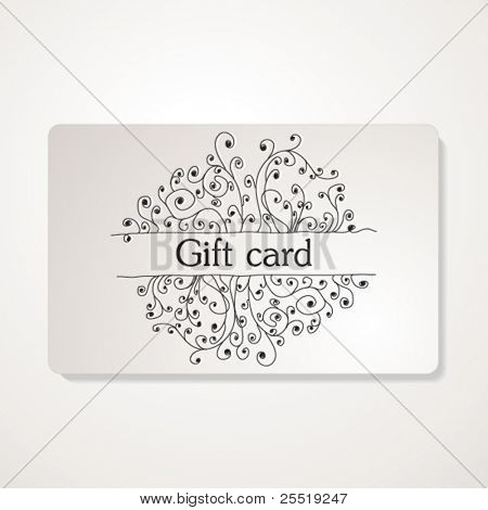 Gift card, vector illustration