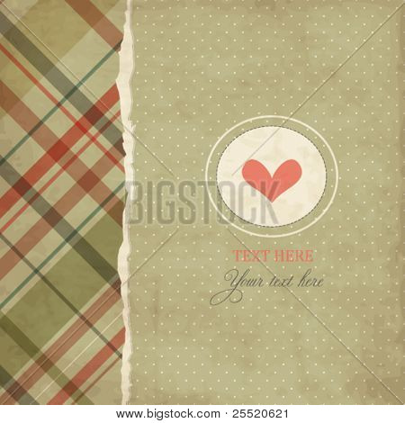 Vintage romantic card