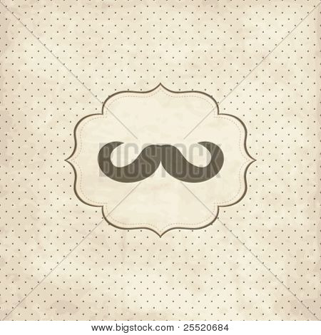Vintage card with  mustache