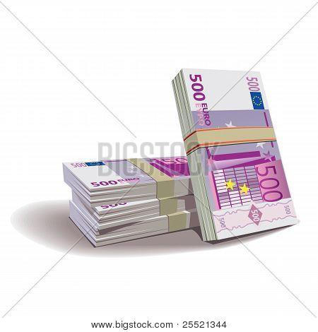 Euro banknotes vector illustration, financial theme