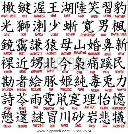 Japanese kanji - chinese symbols 7