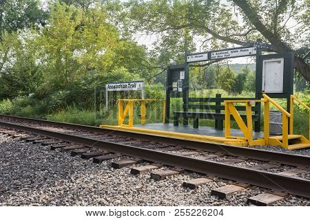 Metro North Harlem Valley Line Has A Train Station Right On The Appalachian Trail In Pawling, Ny.