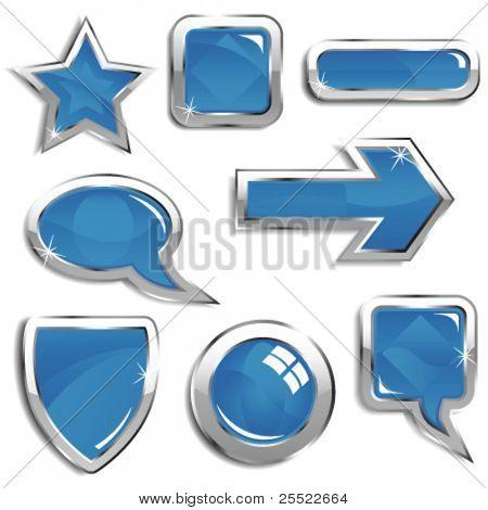 Glassy blue web elements
