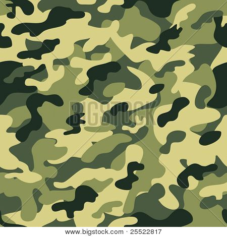 Seamless camouflage pattern (raster version)