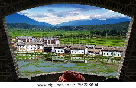 A Scenery Park In Lijiang China, A Top Tourist Town