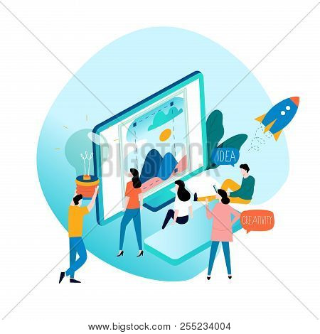 Design Studio, Designing, Drawing, Graphic Design, Education, Creativity, Art, Ideas Flat Vector Ill