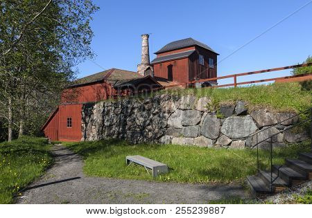 Pershyttan, Sweden On May 18. Outdoor View Of The Old Smeltery, Iron Foundry On May 18, 2018 In Pers