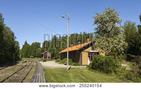 Jarle, Sweden On May 19. Outdoor View Of The Oldest Railway Station In Sweden On May 19, 2018 In Jar