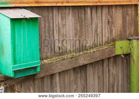 Village. Rural. Rural Mailbox On The Back Of The House. Vintage.