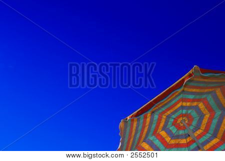Sunshade Against Blue Sky, Copy Space