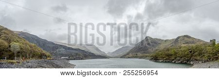 View Over Llyn Peris To Snowdonia From Llanberis - Wales
