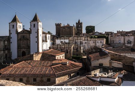 Panoramic View Of The Old Town, Santa Maria's Cathedral, Romantic Style Of Transition To Gothic, Wit