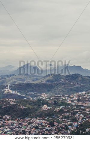 Beautiful Landscape View Mountain Town In Taunggyi, Myanmar In The Morning