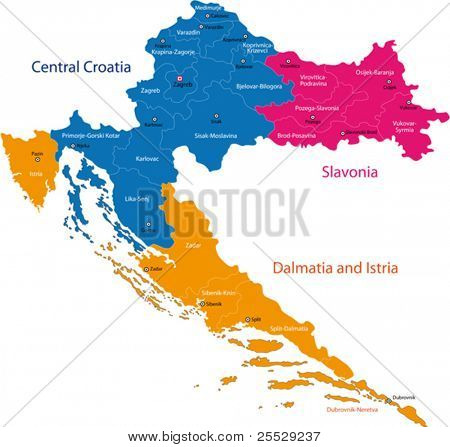 Map of administrative divisions of Republic of Croatia