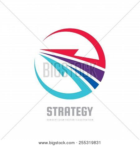 Strategy - Concept Business Logo Template Vector Illustration. Development Creative Sign. Abstract A