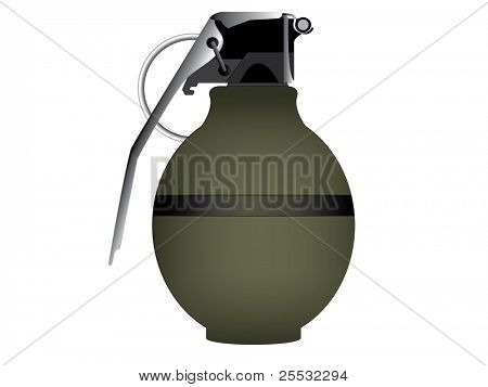 Vector illustration of hand frag grenade