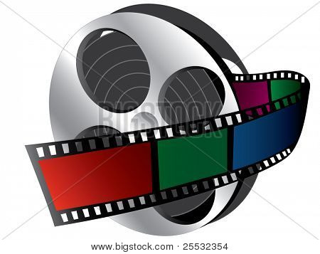 Illustration of  Filmstrip (icon of movie)