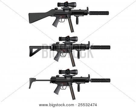 Submachine gun heckler mp5