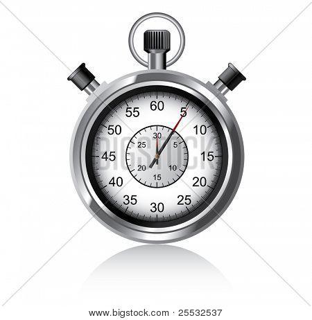 Vector illustration of stopwatch - Chronometer watch