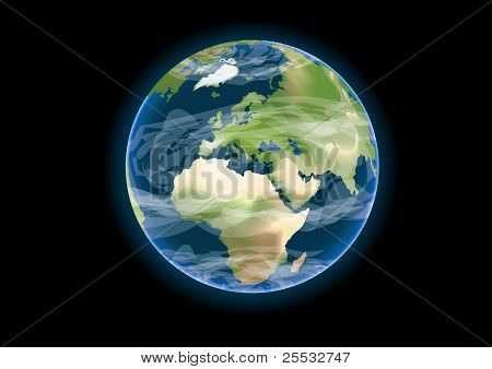 Realistic vector of planet earth