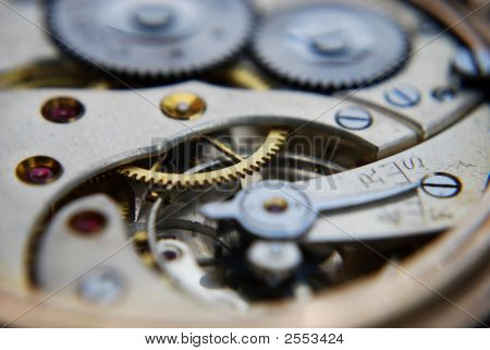 Macro Shot Of A Watch Workings