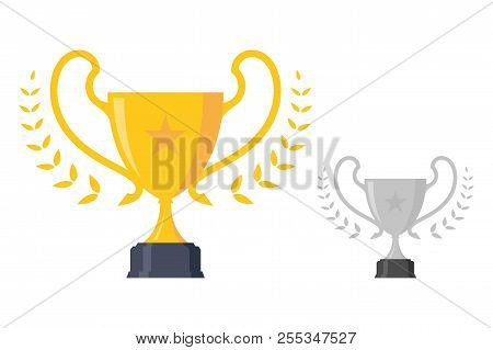 Luxury Concept Design Trophy Award Championship Achievement. Trophy Icon Modern Symbol For Graphic A