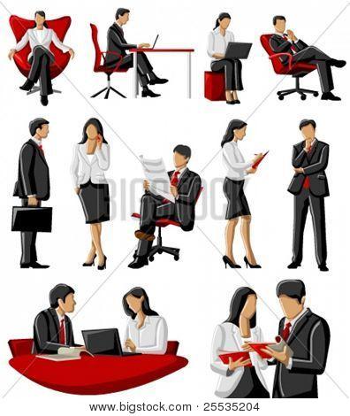 Mulher de negócios e homem no escritório
