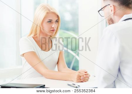 Patient Visits Doctor At The Hospital. Healthcare And Medical Service.