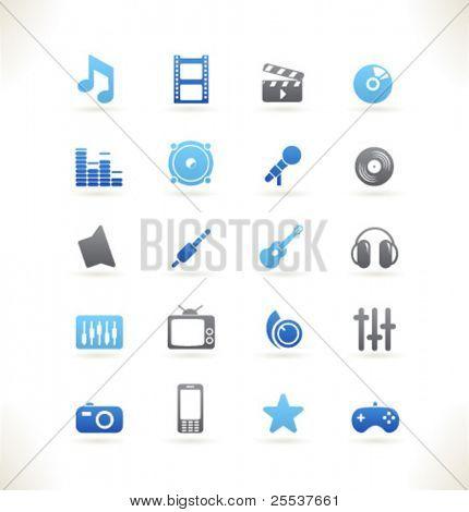 Set of beautiful web icons vol.8 Media