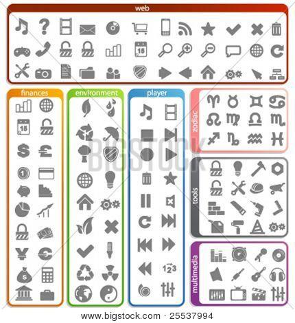 Big set of vector icons