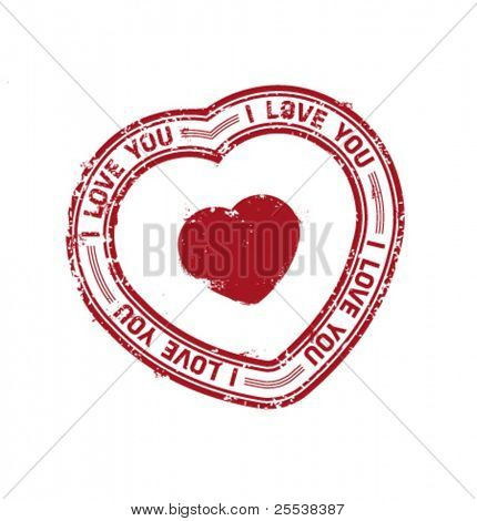Vector stamp with heart