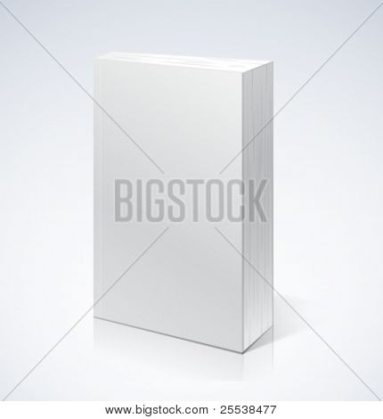 Realistic vector book with softcover