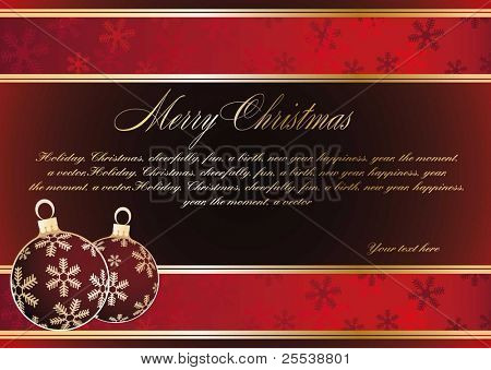 Christmas vintage background, banner for text
