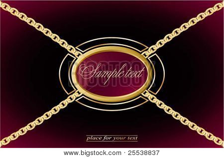 vintage background  With chains